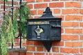 Old German mailbox.  Kaliningrad (until 1946 Konigsberg), Russia Royalty Free Stock Photo