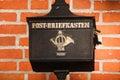Old German mailbox, Kaliningrad Royalty Free Stock Photo