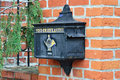 Old German mailbox Royalty Free Stock Photo