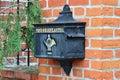 Old German mailbox Royalty Free Stock Photo