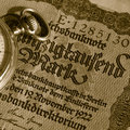 Old german money Royalty Free Stock Photo