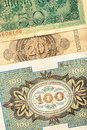 Old german money Royalty Free Stock Photography