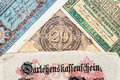 Old german money Royalty Free Stock Photo
