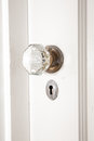 Old Glass and Brass Doorknob Royalty Free Stock Photo