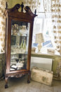 Old glass cabinet Stock Images