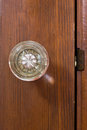Old glass door knob indoor Stock Photos