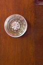 Old glass door knob indoor Royalty Free Stock Photo