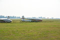Old gliders on the airfield. Royalty Free Stock Photo