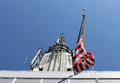 Old Glory atop the Empire State Building Stock Images