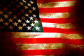 Old glory flag in stone Royalty Free Stock Photo