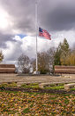 Old Glory waving in the wind Oregon. Royalty Free Stock Photo