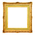 Old gold frame border Royalty Free Stock Photo