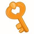 Old gold key illustration Royalty Free Stock Photo