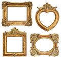 Old golden frame antique object frames for your picture phiti image vintage background Royalty Free Stock Images