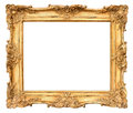 Old golden frame vintage background beautiful Stock Photography