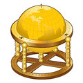Old golden globe sphere there is Royalty Free Stock Images