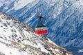 Old gondola lift at Elbrus mountain Royalty Free Stock Photo