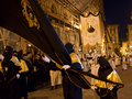 The old good friday procession in chieti Royalty Free Stock Photos