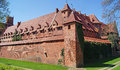 Old gothic castle in malbork poland the Royalty Free Stock Image