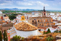 Old gothic church at sagunto spain Royalty Free Stock Image