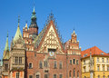 Old gothic city hall facade wroclaw poland Royalty Free Stock Photo