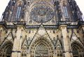 Old gothical cathedral of Saint Vitus in Prague castle historical medieval architecture in European old town Royalty Free Stock Photo