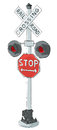 Old grade crossing signal vintage Stock Photography