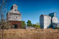 Old grain silo working in north dakota Stock Images