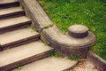 Old granite stone stairs in park Royalty Free Stock Photos