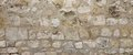 Old Granite Stone Wall With Cement Seam, Stonework Wide Backgrou Royalty Free Stock Photo