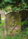 Old grave stone in an english churchyard Stock Photography