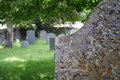 Old graveyard with headstones Royalty Free Stock Photo