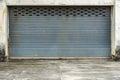 Old gray roller shutter door