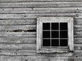 Old Gray Wood Wall With Window...