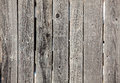 Old gray wooden fence panels close up of Royalty Free Stock Photography