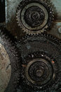 Old greasy gears Royalty Free Stock Photo