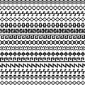 Old greek border, Tribal vintage ethnic seamless pattern, asian lattice ornaments, chinese, japanese, korean vector set