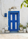 Old Greek Door Stock Photos