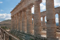 Old greek temple segesta Stock Photography