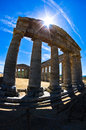 Old greek temple at Segesta, Sicily Royalty Free Stock Photo