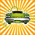 Old green car Royalty Free Stock Images