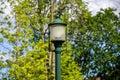 The old green lantern Royalty Free Stock Photo