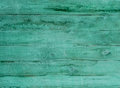Old Green Planked Wood