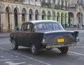 Old Grey Classic Cuban Car Royalty Free Stock Photo