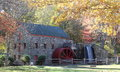 The Old Grist Mill in Fall Royalty Free Stock Photo
