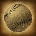 Old Grunge Baseball Royalty Free Stock Images