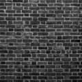 Old Grunge Black and White Brick Wall Background. Abstract Brickwall Texture Close up. Monochrome Background. Square Wallpaper or Royalty Free Stock Photo