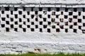 Old Grunge Brick Fence Royalty Free Stock Photo