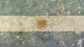 Old grunge faded vintage Argentine Republic flag Royalty Free Stock Photo