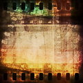 Old grunge film strip background and texture Stock Photos
